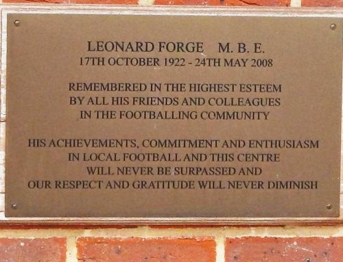 Len Forge Plaque